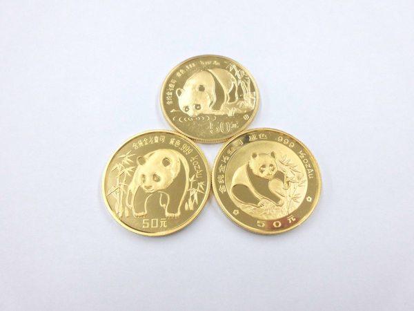中国パンダ金貨(50元)3枚買取しました。サムネイル