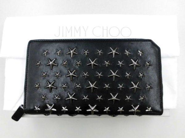 ジミーチュウ財布 スタッズ/ラウンドファスナーを買取しました。サムネイル