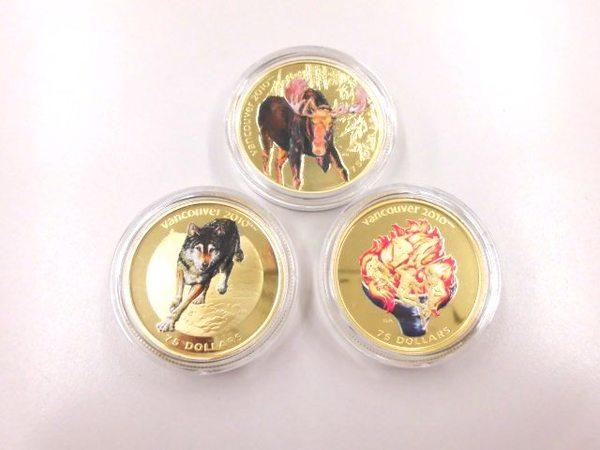 記念金貨3種 2010バンクーバーオリンピックサムネイル